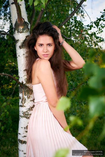 фотосессия девушка в парке